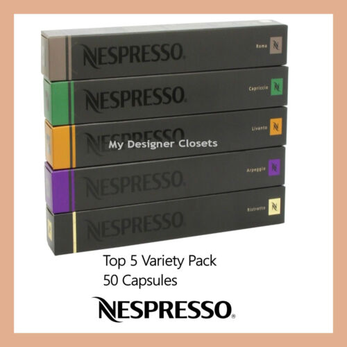New 50 Capsules Nespresso Coffee Best Variety Pack Mixed Pod - Top 5 Popular