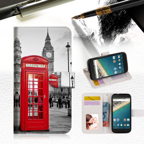 British phone Booth Wallet Case Cover For Alcatel Pop Star -- A024