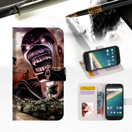 Iron Maiden Wallet Case Cover For Alcatel Pop Star -- A014