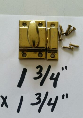 VINTAGE OLD CABINET LATCH LOCK WITH SCREWS NEVER USED (G)