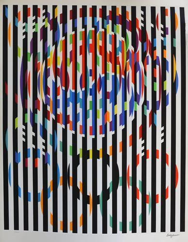 YAACOV AGAM ** MESSAGE OF PEACE ** SERIGRAPH ON PAPER