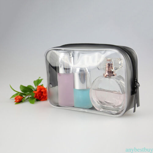 Transparent Clear Purse Box Travel Makeup Cosmetic Bag Toiletry Case Pouch NEW
