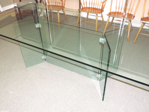 PACE COLLECTION Mid Century Chrome/ Glass 70s/80s Dining Table  Irving M.  Rosen