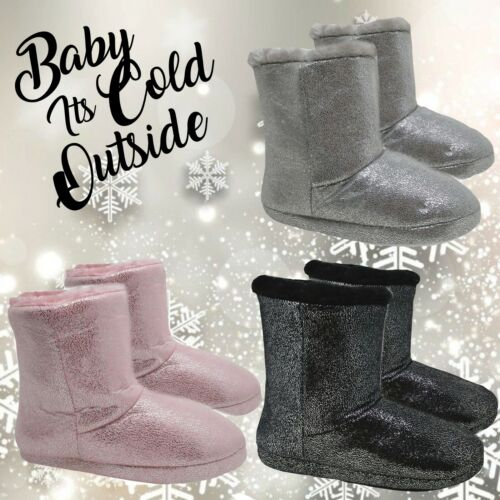 Ladies Slipper Boots,Ladies Slipper Booties Womens Warm Fleece Lined Ankle Boots