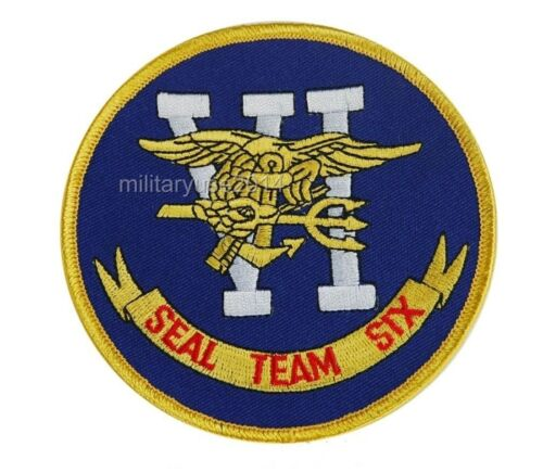 US Navy Seal Team VI Six Military Delicate Military Patch Color YellowReproductions - 156452