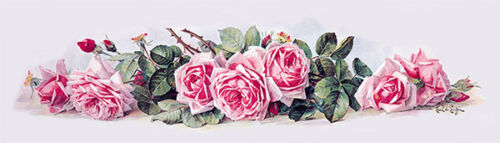 La France Roses by Paul de Longpre (Art Print of Vintage Art)