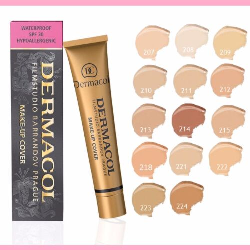 Professional Base Cream MakeUp Cover Concealer Contour Foundation Waterproof214#