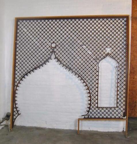"""VICTORIAN LARGE ENTRYWAY CHERRY BALL & STICK FRETWORK 95"""" x 98"""""""