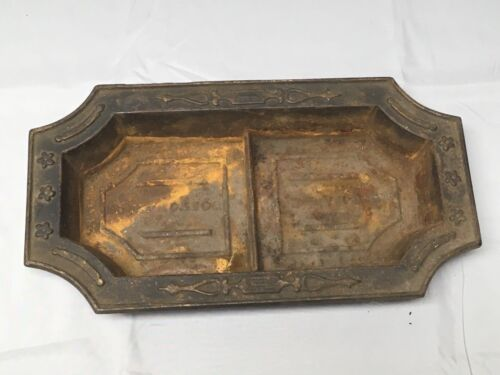 Antique Cast Iron Bowl Dish Planter Decorative Tray Urb Pot C. Blake Vtg 549-17E