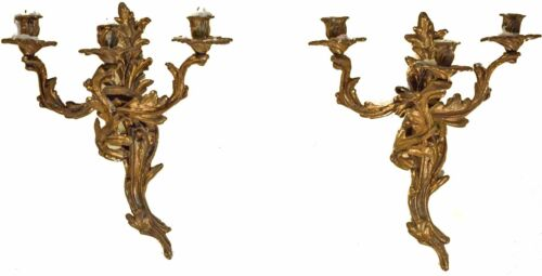 Stunning Gold Gilt Rococo Wall Sconce, Pair of Two, BEAUTIFUL & STELLAR!