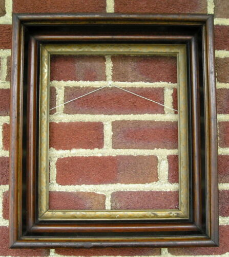Antique Aged Victorian Deep Well Gilt Liner~Picture Frame 10~12 square nails