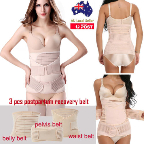 After Pregnancy Postpartum Recovery Postnatal Birth Support Belt Belly Wrap Band <br/> 3 IN 1 SET Postpartum Recovery Belly/Waist/Pelvis Belt