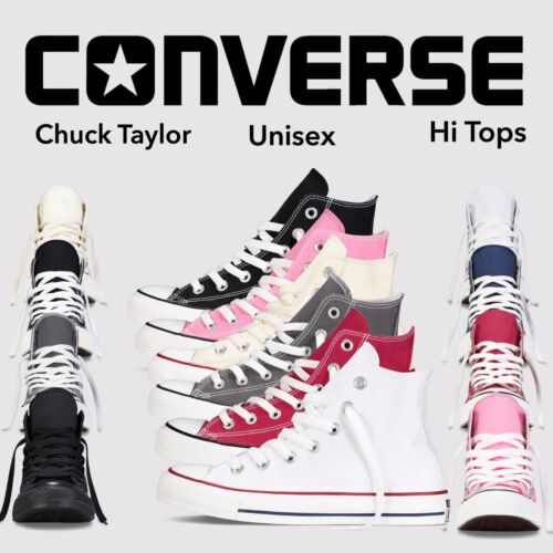 Converse Women  Men Unisex All Star Hi Top  Chuck Taylor Trainers Shoes 7 Colors <br/> 100% GENUINE CONVERSE ALL STAR MONEY BACK GUARANTE