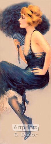 Lady in Blue by Hamilton King (Art Print of Vintage Art)