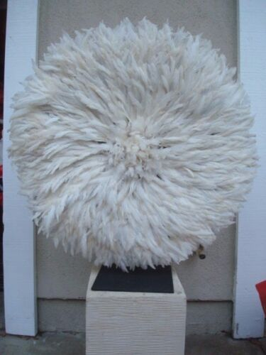 """31"""" White  / African Feather Headdress / Juju Hat / 1st. Quality / New Shipment"""