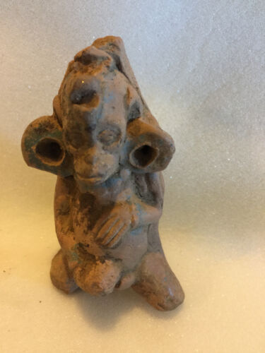 """PRE COLUMBIAN MONKEY EROTIC WHISTLE AUTHENTIC MAYAN CLASSIC PERIOD  4"""" X  2"""""""