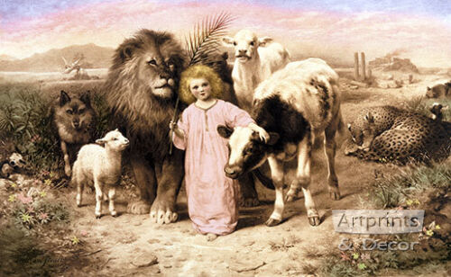 A Little Child Shall Lead Them by William Strutt (Art Print of Vintage Art)