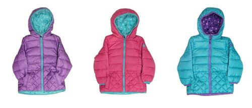 NEW SNOZU GIRLS FLEECE LINED ULTRA CLEAN DOWN PUFFER JACKET - VARIETY