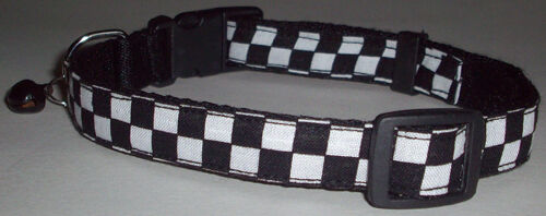 Checkers COLLAR Dog Medium Pet Cute Puppy Kitten Bell Mini Ska Music Cool Cute M