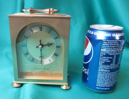 Carriage Clock by Eurastyle, London - brass coloured case
