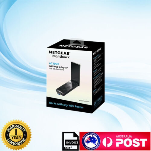 New Netgear A7000 AC1900 USB 3.0 Dual Band 1900Mbps WiFi Dongle Adapter