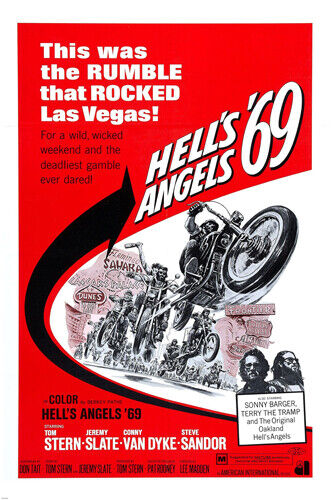 HELL'S ANGELS 24X36 MOVIE POSTER LAS VEGAS sonny BARGER terry THE TRAMP -PY1