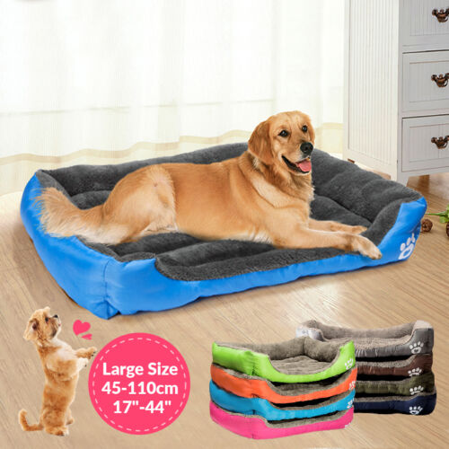 Large Pet Dog Cat Bed Puppy Cushion House Soft Warm Kennel Mat Blanket S -2XL