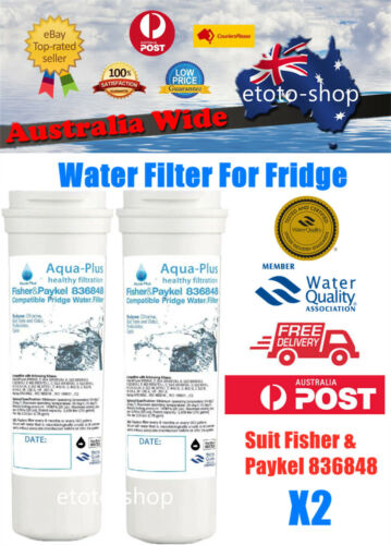 2 X Fisher Paykel 836848 Premium Compatible Ice & Water Fridge Filter