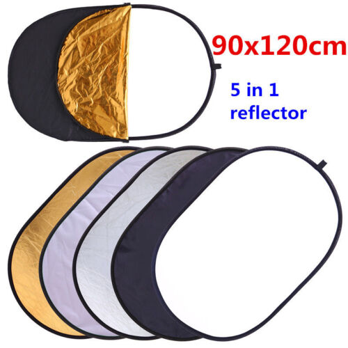 1pc 120cm 5-in-1 Photography Studio Multi Photo Disc Collapsible Light Reflector
