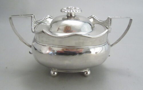 Antique Coin Silver Covered Sugar Anthony Rasch Philadelphia New Orleans c1800