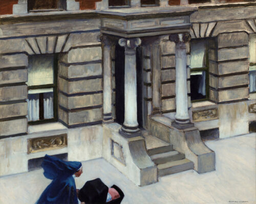 New York Pavements Sister Baby Painting by Edward Hopper Fine Art FREE SH in USA