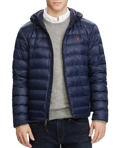 NWT Polo Ralph Lauren Men's Pony Packable Hooded Puffer Down Jacket Navy S~2XL