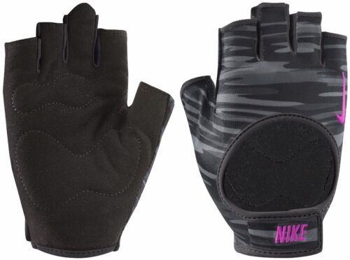 Nike Women's Fit Training Gloves Sizes S, M or L NEW Black Pink Grey FREE SHIP