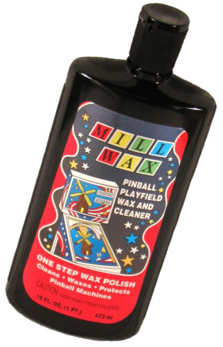 Top Holiday Gifts Mill Wax Pinball Machine Playfield Cleaner Polish FRESH STOCK! Millwax New!