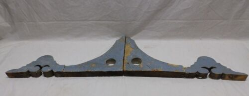 Pair Antique Corbels Gingerbread Shabby Porch Vtg Chic Finial Brackets 427-18P