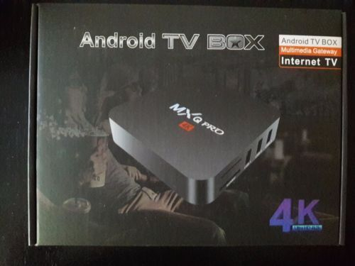 MXQ Pro 4K - Android Box - 7.1 - FEEL THE POWER - QUAD CORE