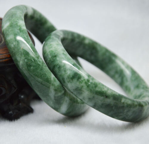 Fine  Natural Chinese jade hand-carved bracelet,beautiful bangle Size: 60-62mm