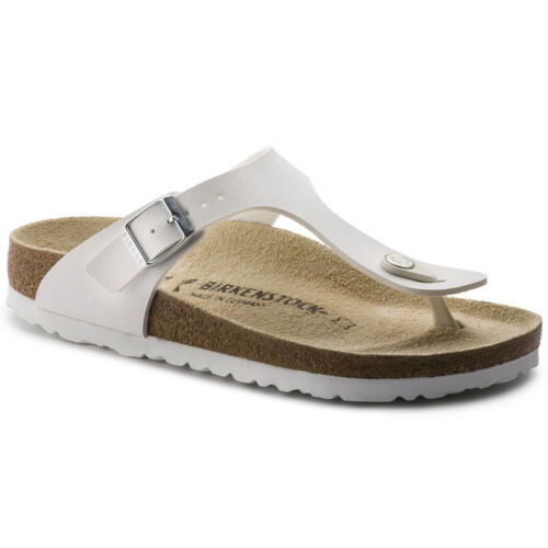 Birkenstock Gizeh Sandals - White - Made In Germany