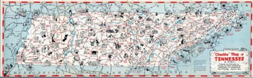 Chuckle Tennessee parks recreational historic 1940 pictorial map POSTER 11079003