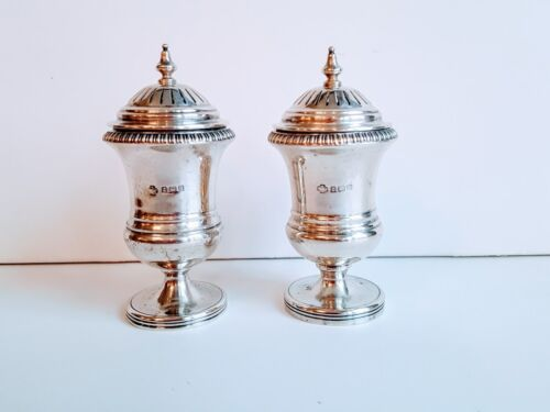 Fine English Sterling Salt & Pepper Shakers Maker William Hutton & Sons Ltd 1909