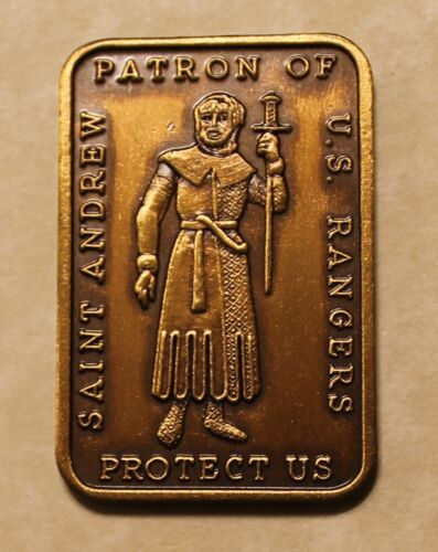 Saint Andrew Patron Saint of Army Rangers Challenge CoinOriginal Period Items - 13983