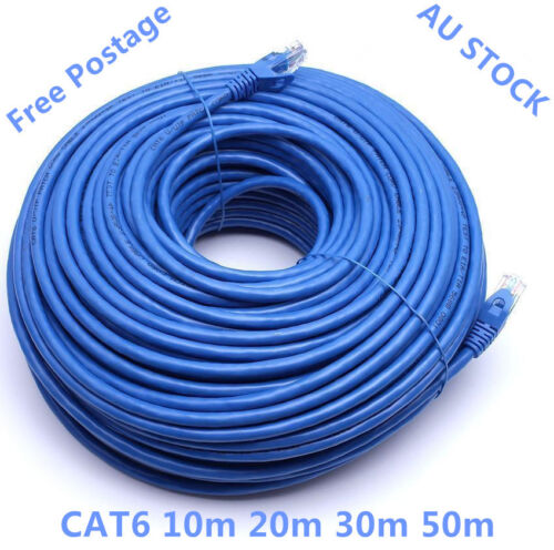 10m 20m 30m 50m Cat6 Network Ethernet  Rj45 Cable 100M/1000Mbps Free Postage