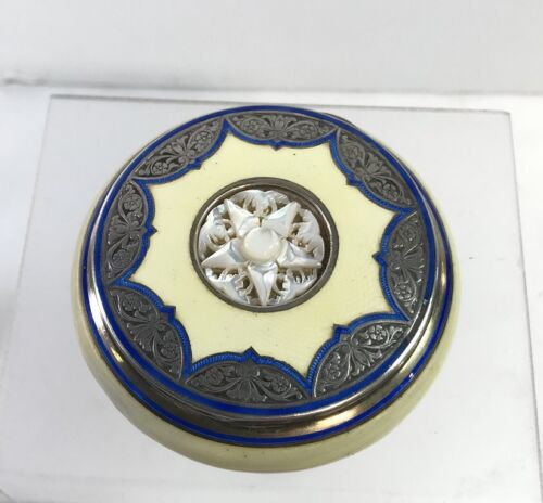 Antique Austrian Silver Enamel Box Georg Scheid