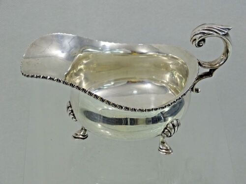 LARGE STERLING SILVER SAUCE GRAVY BOAT CANADIAN BIRKS CO. CANADA super heavy