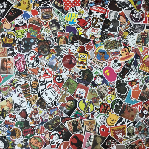 Lot 100 Random Vinyl Laptop Skateboard Stickers bomb Luggage Decals Dope Sticker <br/> NO DUPLICATES!USA SELLER, FAST SHIPPING WITH TRACKING!!