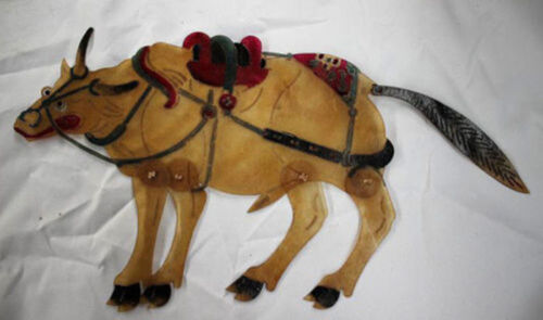 Vintage Chinese Cowhide Shadow Play Puppet--Cow
