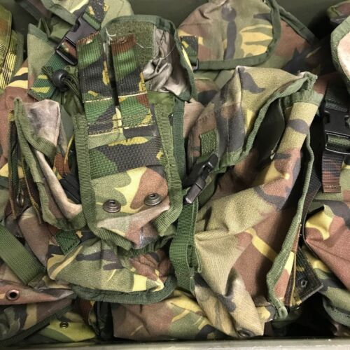 DUTCH ARMY SURPLUS ISSUE WOODLAND DPM MOLLE WEBBING POUCH,AMMO,MAG,CANTEEN,WATER