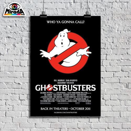 Ghostbusters Movie Logo Car Large Poster Art Print A0 A1 A2 A3 A4 Sizes