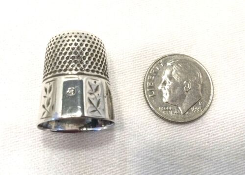 Sterling Silver Thimble Size 9-Simon Bros.& Co.-Sewing-Crafts.         #2036