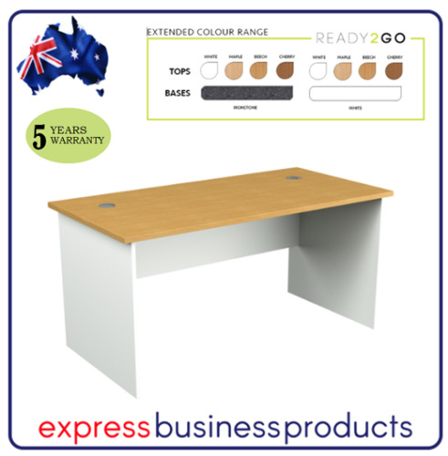 Ready 2 Go Office Straight Desk - Assorted Dimensions, Colours & Top Design